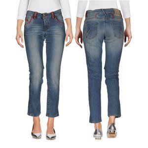 John Galliano cropped demi flare jeans